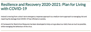 Irish Government Resilience and Recovery 2020 2021
