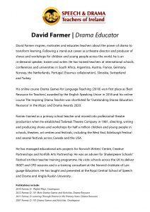 Bio David Farmer